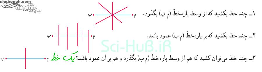 جواب فعالیت صفحه 102 ریاضی ششم