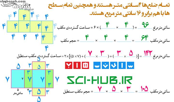 جواب فعالیت صفحه ۹۴ ریاضی ششم ابتدایی
