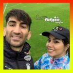عکس منشوری علیرضا بیرانوند و همسرش در خارج از کشور