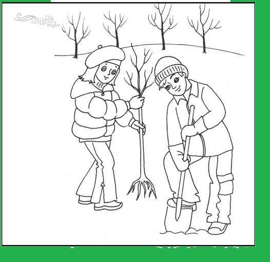 نقاشی روز درختکاری برای مدرسه (آموزش 20 مدل مختلف)
