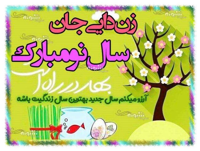 متن تبریک سال نو به زن دایی +عکس عید نوروز 1400 مبارک برای زن دایی