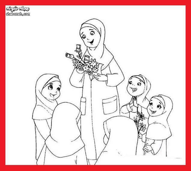 ایده نقاشی کودکانه روز معلم برای مدرسه (آموزش نقاشی برای معلم)