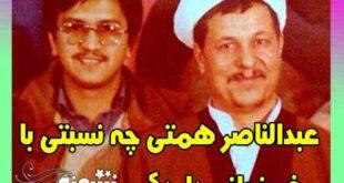 عبدالناصر همتی خواهرزاده هاشمی رفسنجانی است؟ +عکس
