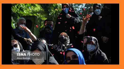 تشییع ریحانه یاسینی خبرنگار ایرنا و همسرش بهراد رزمجو + اینستاگرام و عکس