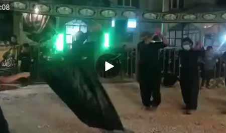 فیلم لحظه مرگ نوحه خوان ایلامی (ابراهیم مرادی مداح روستای فاطمیه ایلام)