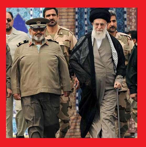 بیوگرافی و عکس سرلشکر حسن فیروزآبادی و رهبر انقلاب